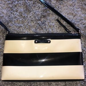 Cream and black Kate spade satchel